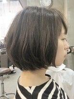 エトネ ヘアーサロン 仙台駅前(eTONe hair salon)毛先に動きのあるショートボブ