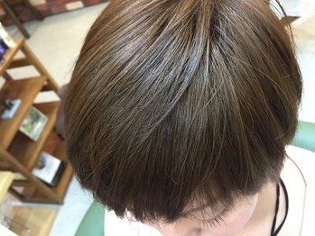 ヘアーリゴラ(Hair ReGoLA)の写真/頭皮に刺激の少ない薬剤を取り寄せ。頭皮が弱い方も施術可能。白髪染めしながら潤いと艶・コシが蘇ります。