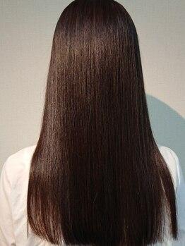 リリー 美容室(Lily)の写真/【栃木市】繰り返すほど髪が蘇る究極のストレート、当店オリジナル《ストリートメント》が人気!
