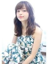 【Arlel】☆斜めバング暗髪マーメイドアッシュハニーヘア☆