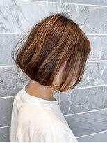 オーブ ヘアー アンリ 梅田店(AUBE HAIR unli)【AUBE HAIR】フェイスフレーミングモカベージュ_ナチュラルボブ