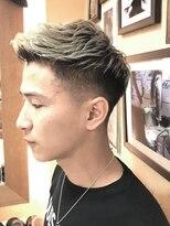 オムヘアーフォー(HOMME HAIR 4)ハイトーンアップバングフェード【 HOMME HAIR4 熊田】水道橋