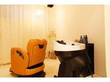 ビューティトリートメントサロン コンフォルタ(Beauty treatment salon ComfortA)の雰囲気(フルフラットの個室シャンプー台でゆったりと自分だけの時間を♪)