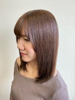 パチャールヘアー(PACAR HAIR)の写真/低温ストレートで自然な丸みを表現☆愛され度UPのナチュラルスタイルは【PACAR HAIR】にお任せ☆
