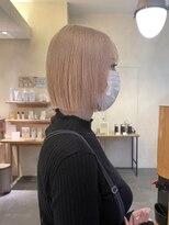 デコ(DECO)《RYUSEI》ホワイトブロンドベージュ小顔ミニボブ髪質改善20代