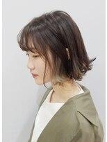 エイム ヘアメイク 横川店(eim HAIR MAKE)インナーカラー×シルバーベージュ