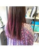 フェン ヘアーアイス(Fen.hair ici)ピンクパープル グラデーションカラー ロングヘア