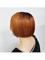 Orange short bob