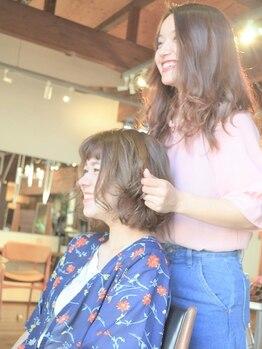 """カーサ (CASA)の写真/「お顔分析理論」に基づいた""""本当の似合わせカット""""。髪を切った後、周りから褒められるヘアを[CASA]で。"""