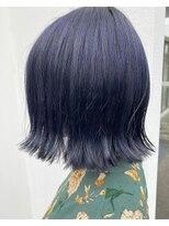 リゾートフォーヘアー 嵯峨店(ReSORT FOR HAIR)切りっぱなしブルーブラック