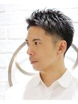 【ヨシザワ横浜】刈り上げツーブロックビジネスアップバング