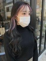 ヘアー アイス ルーチェ(HAIR ICI LUCE)ブリーチ☆&フェイスフレーミング&インナーペールピンク/山中