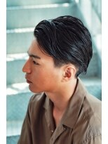 リップスヘアー 銀座(LIPPS hair)ルードジェリーリバース イメチェン オールバック 刈り上げ