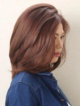 サロン ド ハル salon de HARUの写真/【宿河原駅1分】低刺激なハーブカラー使用。髪はもちろん、頭皮、そして身体にも心地良いカラーtimeを…。