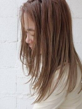 """マーケット(MARKET)の写真/梅雨時期到来!!気になるクセ毛に◎ケアしながら縮毛矯正!!髪の芯から栄養を補給し自然な""""うる艶""""ヘアに★"""