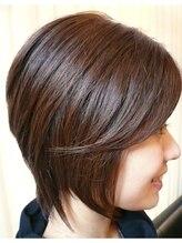 ヘアーフェイヴァリット(Hair Favorite)シャープなミディアムスタイル