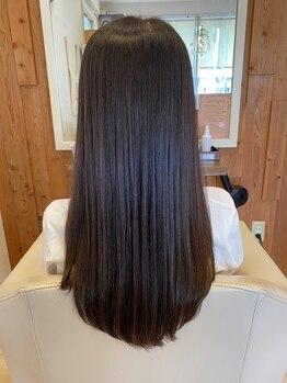 アーチ(arch)の写真/艶髪矯正プレミアム★オーダーメイドの薬剤で潤いのある仕上がりに◎まっすぐになり過ぎない柔らかい質感に