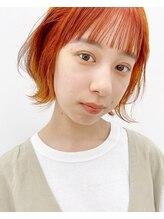 キピ(KIPI)【早瀬忍 梅田中津】オレンジカラー×レイヤーミニボブ
