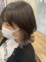 ヘアーズビースリー ポートサイドホワイティベージュ×インナーカラー [横浜/横浜駅]2021/6/10#