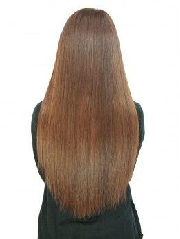 アブティール 船橋店(Aboutir)の写真/[その縮毛矯正、あなたに合ってますか?]ノンアルカリ縮毛矯正に炭酸泉×Tr配合!自然な仕上がりで髪に優しい