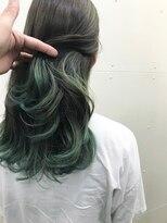 ラフ(La.a.g.f)mixグリーン裾カラー