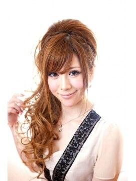 サイドハーフアップヘアアレンジ ゼン ヘアアンドメイク ヨコハマ Hair&Make ZEN YOKOHAMAサイドハーフアップ