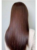 ルララドゥ縮毛矯正/艶髪バイオレットブラウン/大人ロング/西新井髪質改善