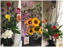 ブーン ヘアーメイク(Hair Make Boon)の雰囲気(毎月旬の花を飾ってます。花が変わると店内の雰囲気も変わります)