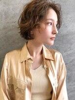 エイチスタンド 渋谷(H.STAND)大人かわいいくせ毛風パーマふわミディボブ[渋谷/髪質改善]