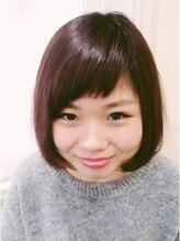 美容室 カーム(CALM)三角前髪すっきりかわいい☆ショートボブ