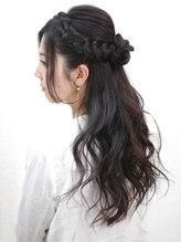 レクリヘアー(RecRe hair)【RecRe hair】大人編み込みハーフアップ