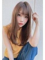 潤いベージュカラー+ストレート《春日井 Regalo レガロ》