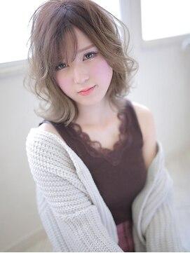 アグ ヘアー ラヴィ 錦糸町店(Agu hair lavie)透けうざバングの無造作カール