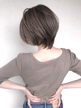 ヘアースタジオ ゼン(hair studio Zen)の写真/【京都駅3分】ボリューム感やシルエットなどバランスを見極めた小顔デザインであなたの魅力をUP