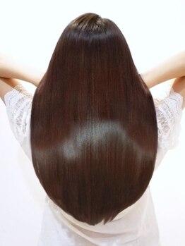 アース 松戸店(HAIR&MAKE EARTH)の写真/松戸◆髪質に合わせた提案で、ダメージヘアもしっかりケア♪髪質を改善し、艶感を引き出し理想の美髪