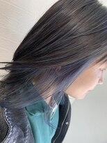 アプリ バイ リアン 浦和(appri by Rien)インナーカラー×アイスブルー