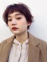 ゼンコー キチジョウジ シェール(ZENKO KICHIJOJI chere)ローズブラウンカラーの小顔ショート [廣瀬晴菜]