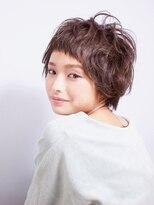 ドロワー(Drawer..)《前髪がポイント☆》グレージュショート