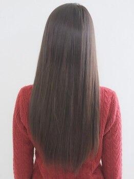 ジュジュ JuJu 寿寿 ヘアー アンド フェイス HAIR&FACEの写真/こだわり抜いた優しい薬剤で、髪ストレスを解消!!触れてみたくなるような自然で柔らかい曲線美に…☆
