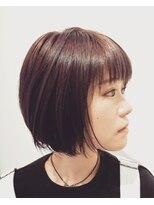 ヘアーリゾートラシックアールプラス(hair resort lachiq R+)《R+》ラベンダー☆ショートボブ