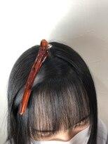 キャラ 池袋本店(CHARA)前髪矯正ロング【キャラ池袋/ブロー矯正】