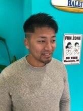 ファミリーヘアサロン シェルブルー(Family Hair Salon SHELL BLUE)アップバング
