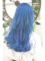 ヘアーサロン エール 原宿(hair salon ailes)(ailes 原宿)style382 デザインカラー☆スカイブルー