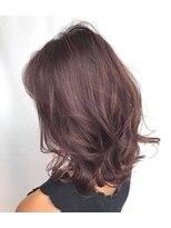 ラ ブレス あべのキューズ(La Bless)ラベンダーアッシュの艶髪ニュアンスカール