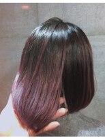 エンヘアー(en hair)ピンクのバレイヤージュ◎