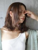 ノエルヘアー(Noel hair)外ハネニュアンスの艶っぽミディアムvol.2