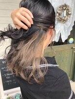 ヘアーガーデン シュシュ(hair garden chou chou)切りっぱなしロブ&インナーグレージュ