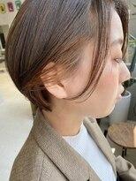 テトヘアー(teto hair)丸みショート ショートボブ ボブ インナーカラー