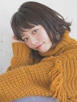 リリアン ギンザ(relian GINZA)【竹澤優/銀座】オン眉切りっぱなしボブ☆デザインカラー