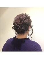 編み込み まとめ髪